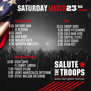 SALUTE THE TROOPS SATURDAY