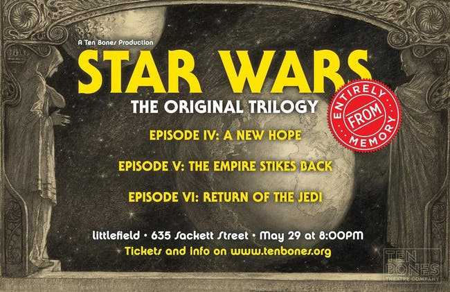 Star Wars: The Original Trilogy Entirely From Memory