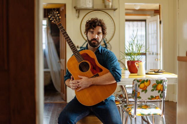 Andrew Duhon with Blue False Indigo in the Saloon