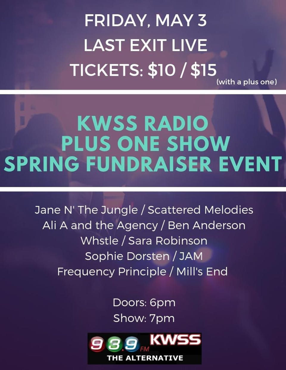 """Plus One Show"" - KWSS Spring Fundraiser"