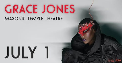 Grace Jones – Tickets – The Masonic Temple – Detroit, MI