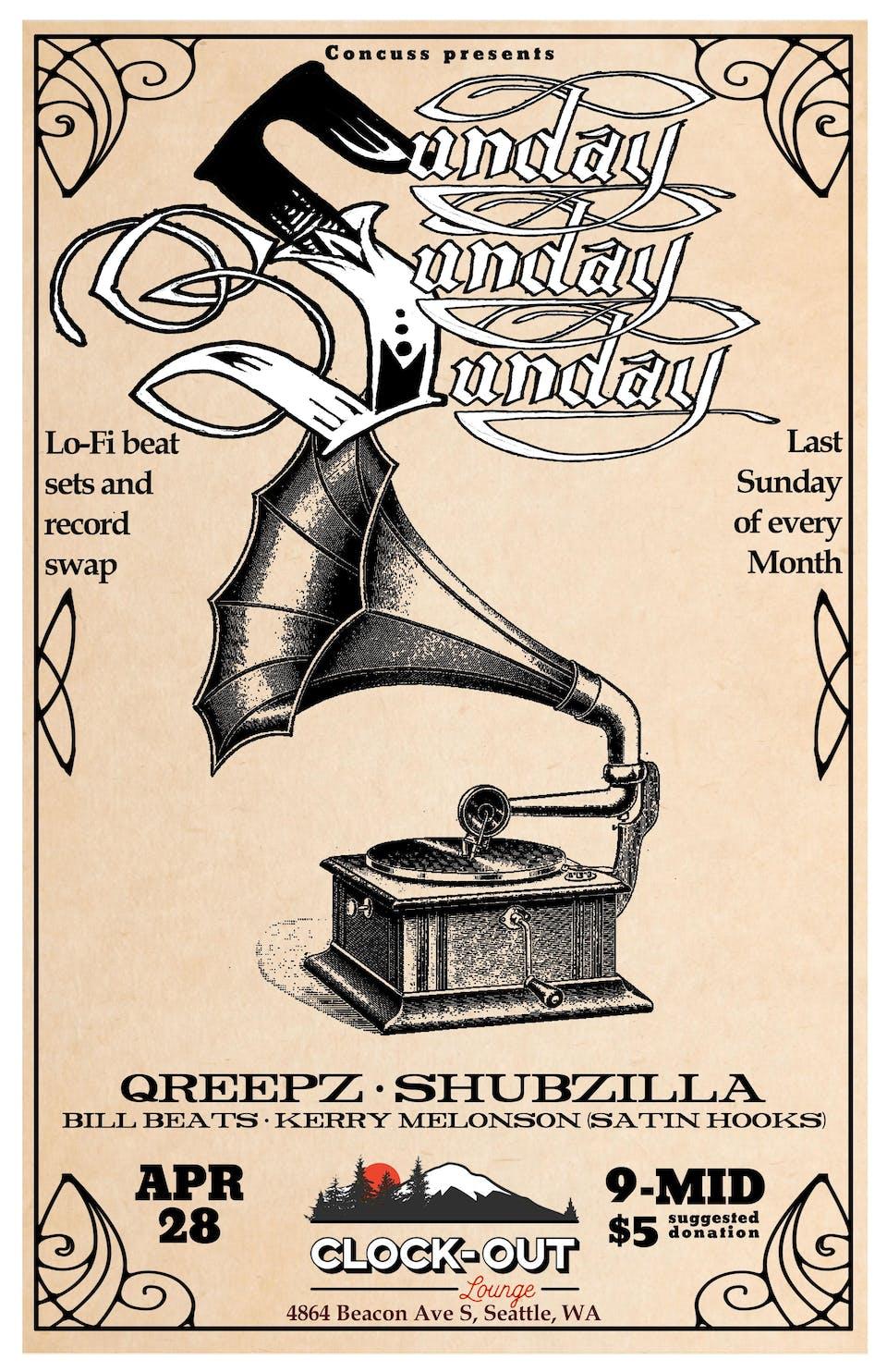 Concvss :  Sunday! Sunday! Sunday! w/ Qreepz and Shubzilla