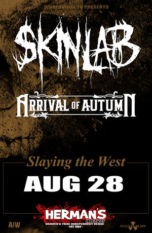 SKINLAB w/ Arrival of Autumn • Fist Fight • Thicker Skin • Slingfist
