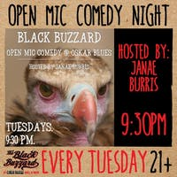 The Black Buzzard Open Mic Comedy Night w/ Janae Burris