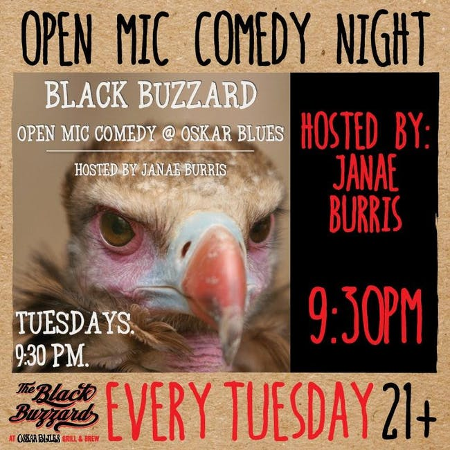 The Black Buzzard Open Mic Comedy Night w/ Janae Burris