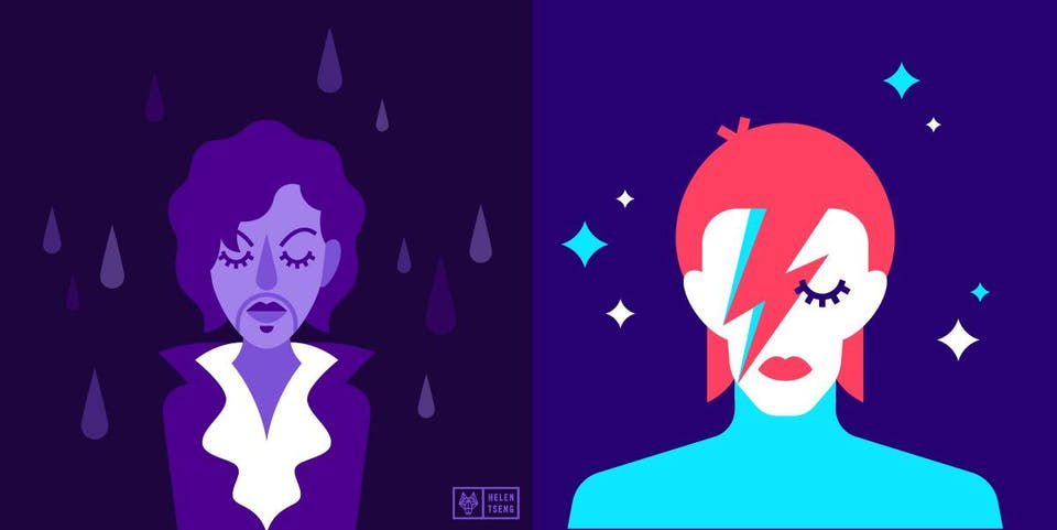 A TRIBUTE TO DAVID BOWIE AND PRINCE