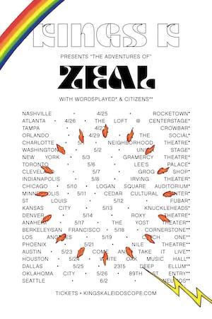 KINGS KALEIDOSCOPE: Zeal Tour - Austin
