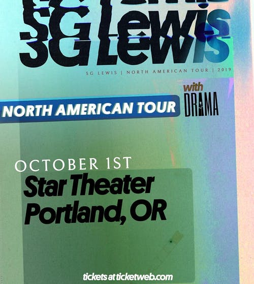 SG Lewis w/ DRAMA at Star Theater