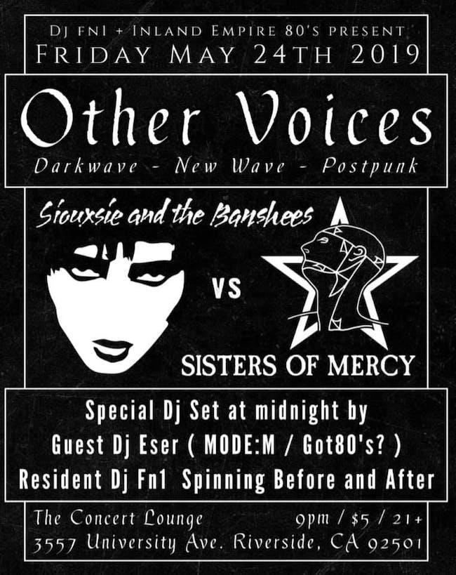 Other Voices - NewWave,  Darkwave,  Postpunk & More