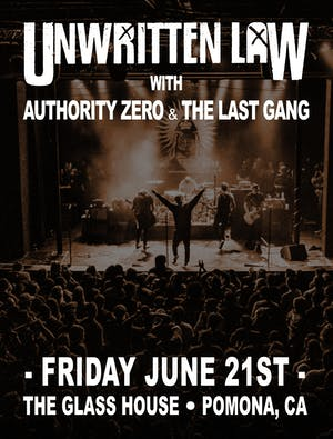 Unwritten Law w/ Authority Zero & The Last Gang