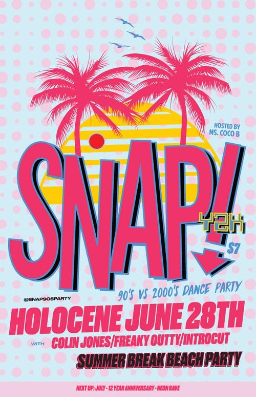 SNAP! Y2K: '90s vs '00s Dance Party - Summer Break Beach Party