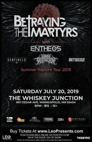 """ Whiskey Junction"" BETRAYING THE MARTYRS, ENTHEOS AND MORE"