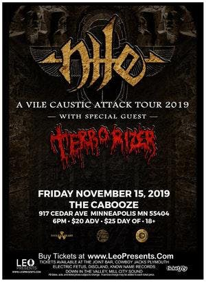 NILE - A VILE CAUSTIC ATTACK TOUR