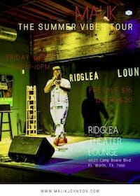 Malik in the Ridglea Lounge