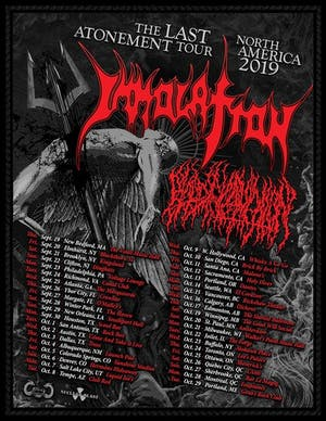 "IMMOLATION ""The Last Atonement Tour - North America 2019"""