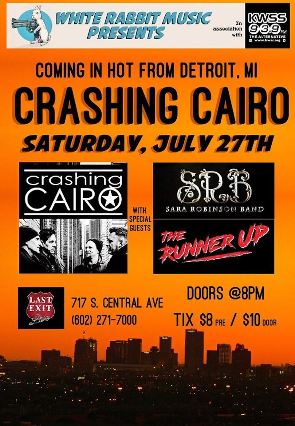 Crashing Cairo w/ Sara Robinson Band, and The Runner Up