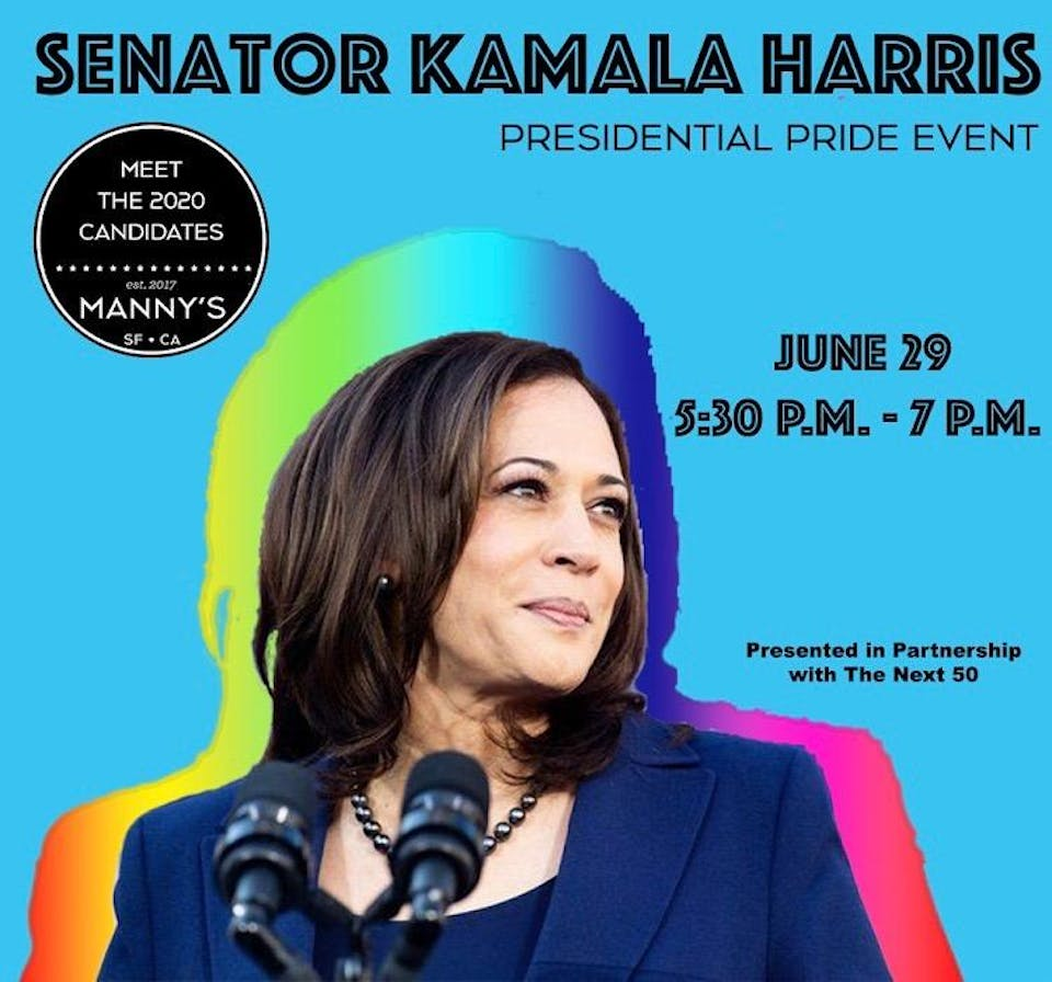 Meet the 2020 Candidate: Senator Kamala Harris Pride Fundraiser