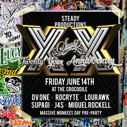 Steady Productions 20 Year Anniversary