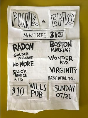 Punk vs Emo - 3pm Matinee Show