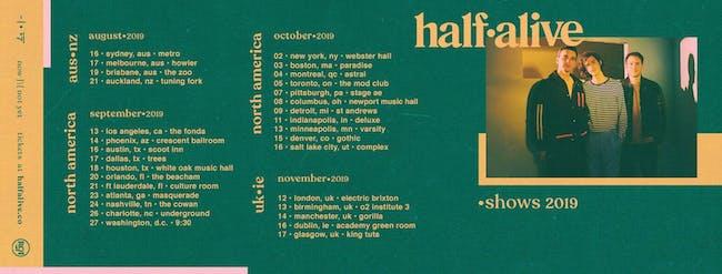 half•alive – Tickets – The Beacham – Orlando, FL – September