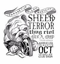 SHEER TERROR • THUG RIOT • GET A GRIP (and more) at Club Dada