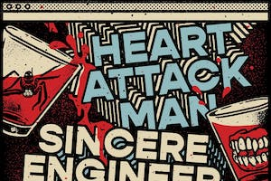 Heart Attack Man + Sincere Engineer, Rome Hero Foxes