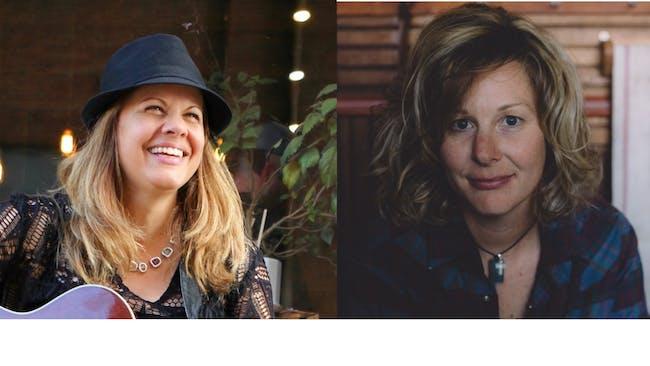 Joy Zimmerman and Hope Dunbar in the Gospel Lounge