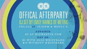 80/35 Afterparty: DJ Set by Emily Haines of Metric