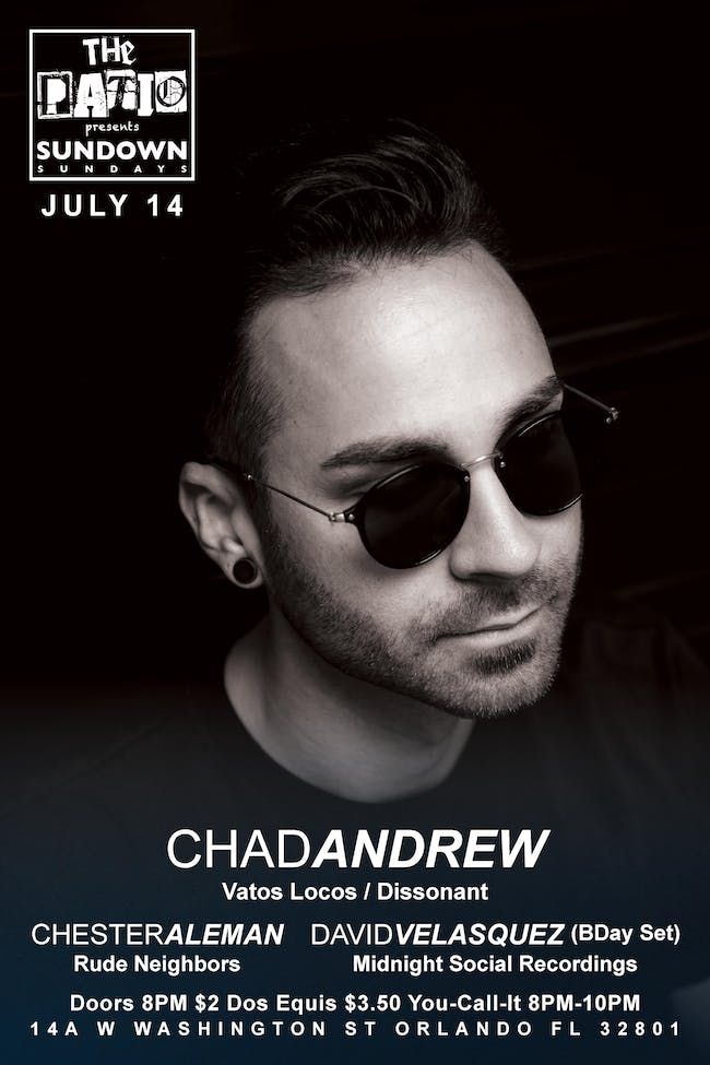 Sundown Sundays @ The Patio w/ Special Guest Chad Andrew