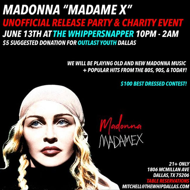 Madonna Madame X Release Party + Fundraiser
