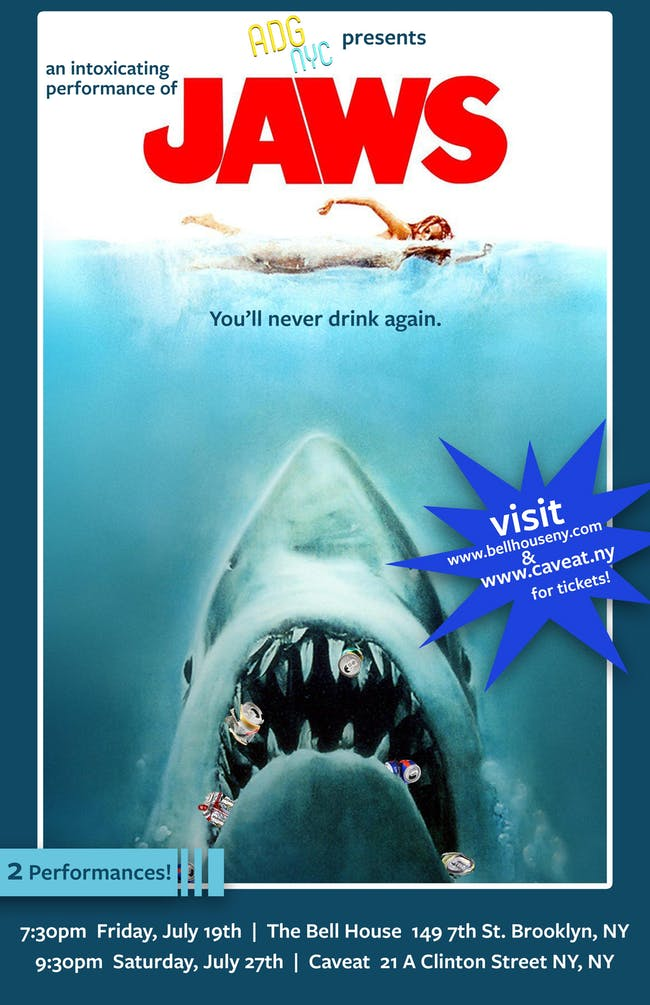 A Drinking Game NYC presents JAWS