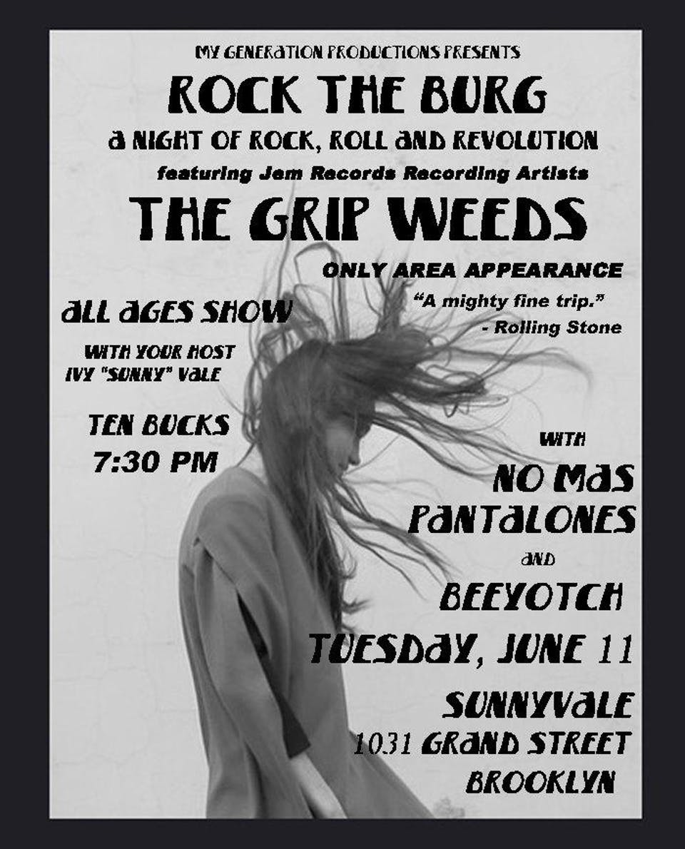 THE GRIP WEEDS – Tickets – Sunnyvale – Brooklyn, NY – June