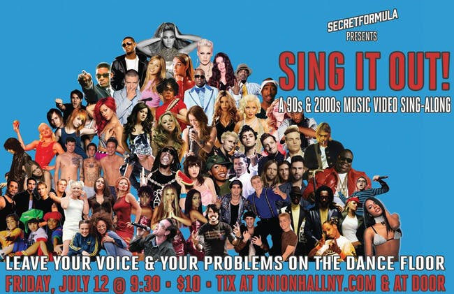 Sing It Out: A 90's & 2000's Music Video Sing-Along