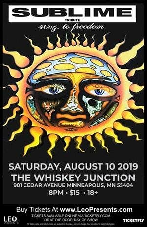 *Whiskey Junction* 40 OZ TO FREEDOM (SUBLIME TRIBUTE BAND)