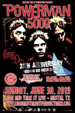 POWERMAN 5000: 'Tonight the Stars Revolt' 20th Anniversary