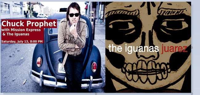 Chuck Prophet & the Mission Express with The Iguanas