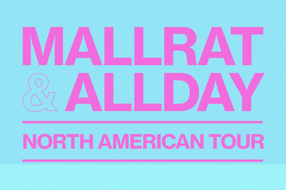 Allday + Mallrat with Japanese Wallpaper