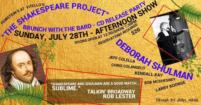 "Brunch with the Bard  - CD Release Party for ""The Shakespeare Project"""