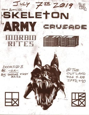 Skeleton/Army (TX) w/ Morbid Rites, ONE, Crusade