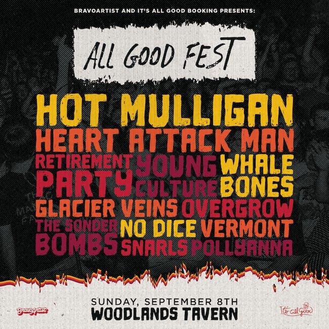 All Good Fest ft Hot Mulligan, Heart Attack Man + many more