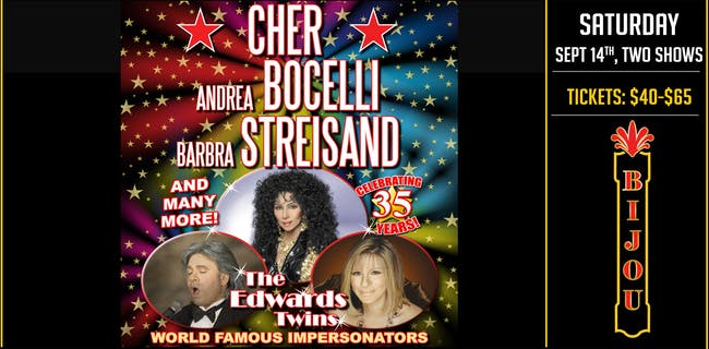 CHER, BILLY JOEL, STREISAND  & MORE! Vegas Impersonators  The Edwards Twins