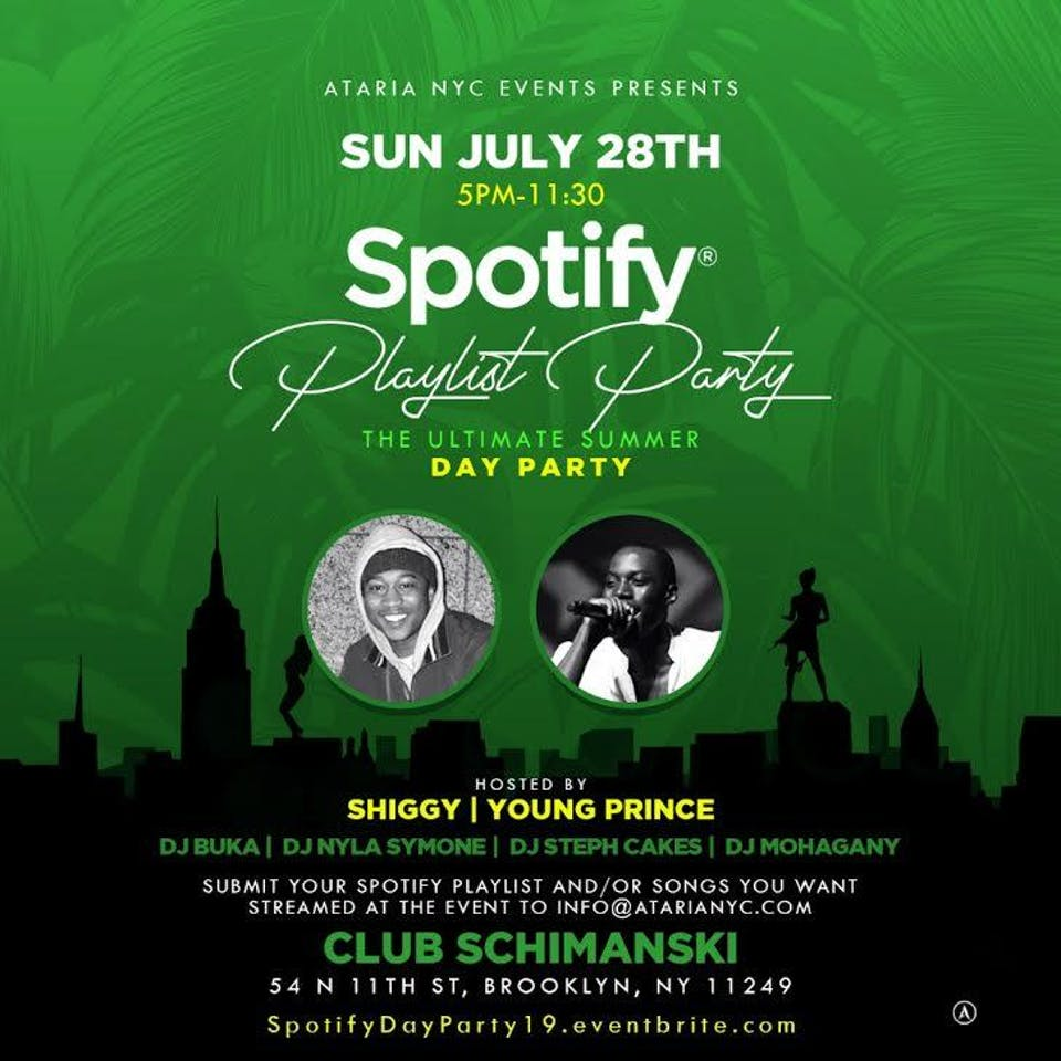 Spotify Playlist Day Party – The Ultimate Summer Day Party