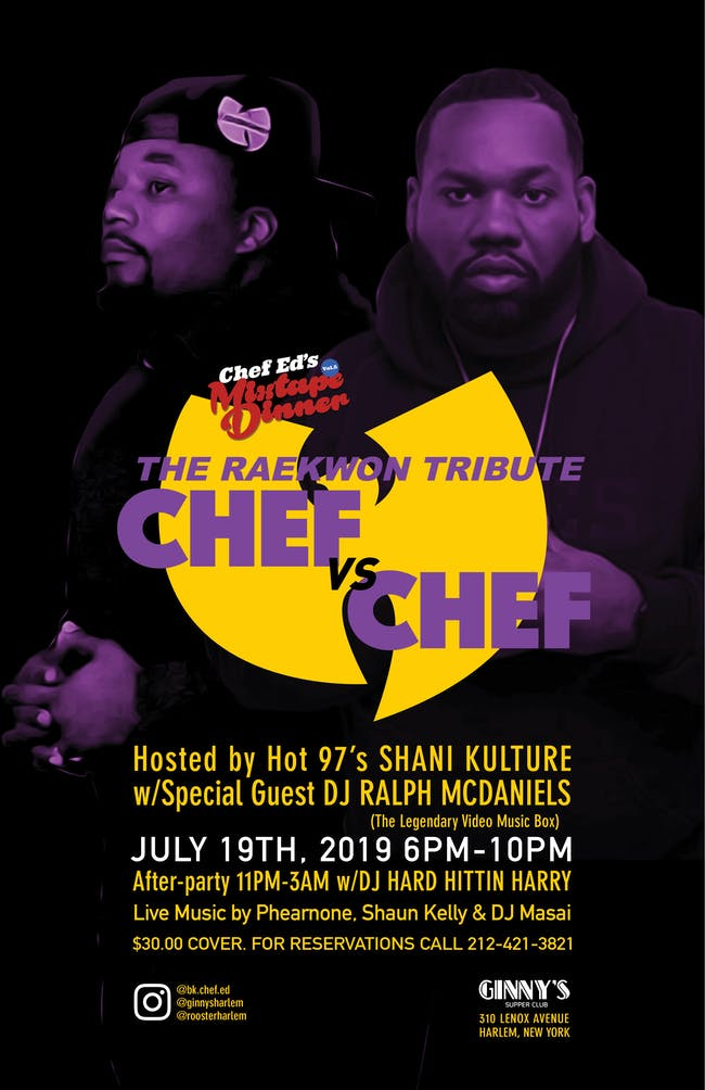 Chef Ed's Mixtape Dinner Vol. 5: The Raekwon Tribute - Chef vs. Chef