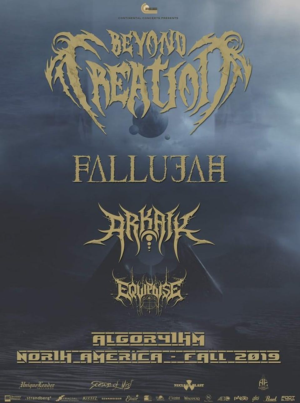Beyond Creation, Fallujah, Arkaik, Equipose, The Last King
