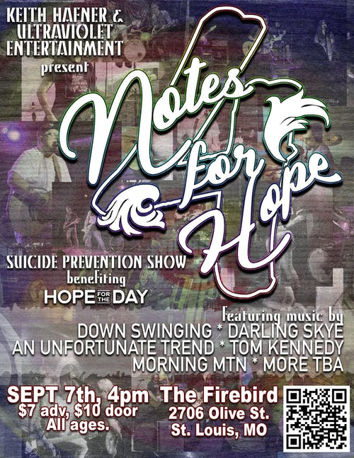Notes For Hope - Suicide Prevention Show benefiting Hope For The Day