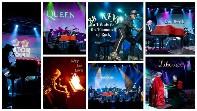 88 KEYS - a tribute to the Pianomen of Rock
