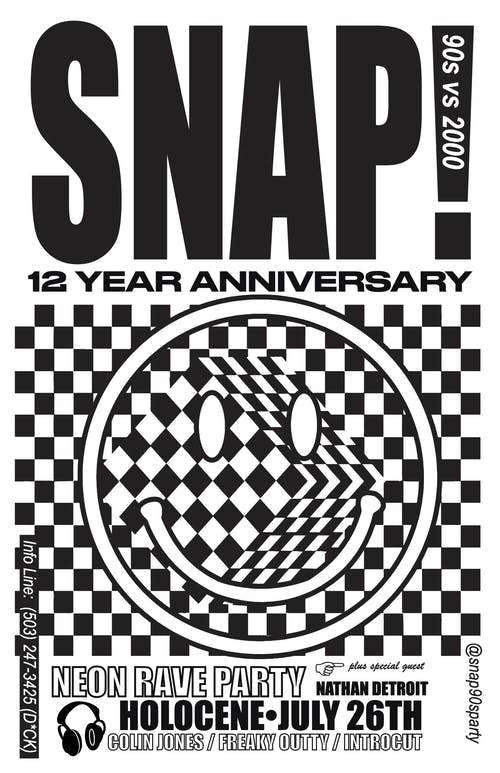 SNAP! Y2K: '90s vs '00s Dance Party - 12 Year Anniversary! - Neon Rave