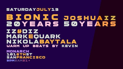 Bionic 20 Years: Iz & Diz, Mark E. Quark & Nikola Baytala