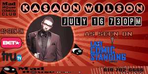 Comedian Kasaun Wilson as seen on NBC's Last Comic Standing!