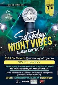 Saturday Night Vibes Music Showcase
